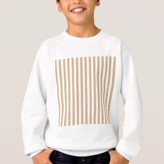 Dünne Streifen - Weiß und TAN Sweatshirt