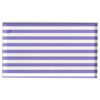 Dünne Streifen - Weiß und Ube Platzkartenhalter