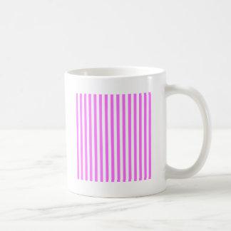 Dünne Streifen - Weiß und ultra Rosa Kaffeetasse