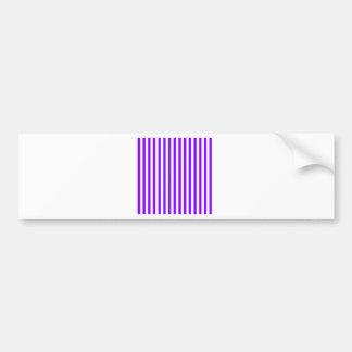 Dünne Streifen - Weiß und Veilchen Autoaufkleber