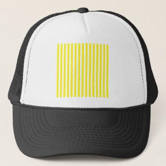 Dünne Streifen - Weiß und Zitrone Truckerkappe