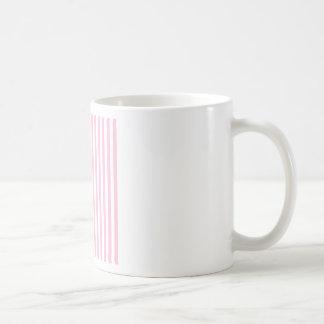 Dünne Streifen - Weiß und Zuckerwatte Kaffeetasse