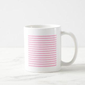 Dünne Streifen - Weiß und Zuckerwatte-Rosa Kaffeetasse