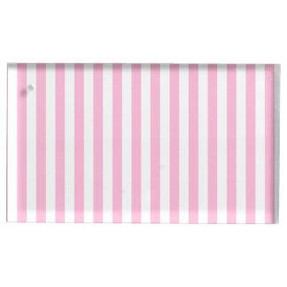 Dünne Streifen - Weiß und Zuckerwatte Tischkartenhalter