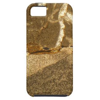 Dünner Abschnitt des Triassic Karbonats unter dem iPhone 5 Hülle