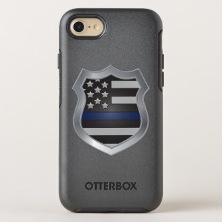 Dünner Blue Line iPhone 7 Fall OtterBox Symmetry iPhone 8/7 Hülle