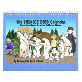 Dünner Kalender des Eis-2018
