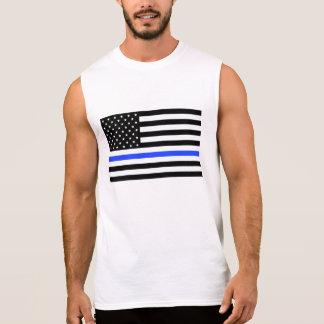 Dünner Shirt der blauen Linie Flaggenmänner