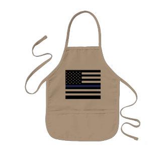 Dünnes Blue Line - amerikanische Flagge Kinderschürze
