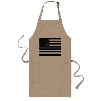 Dünnes Blue Line - amerikanische Flagge Lange Schürze