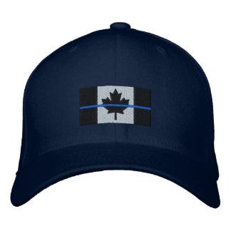 Dünnes Blue Line auf kanadischer Flagge Bestickte Kappe