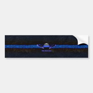 Dünnes Blue Line Autoaufkleber