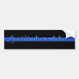 Dünnes Blue Line - Fortitudo e Delore Autoaufkleber