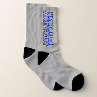 Dünnes Blue Line - ich bin bin Sie blau? Socken