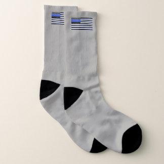 Dünnes Blue Line kennzeichnen Socken