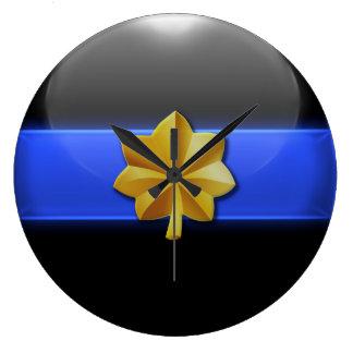 Dünnes Blue Line - Polizei-bedeutende Insignien Große Wanduhr