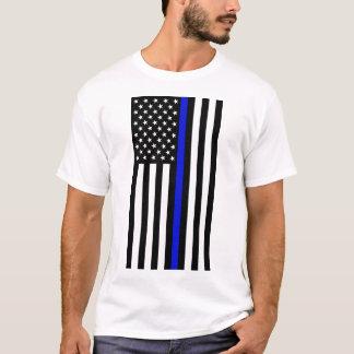 Dünnes Blue Line T-Shirt