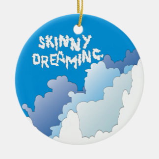 Dünnes Träumen Rundes Keramik Ornament