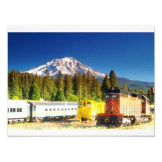 Dunsmuir, Kalifornien-Eisenbahn-Friedhof Fotodruck
