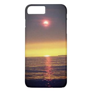 Dunstiger Sonnenuntergang-Telefon-Kasten iPhone 8 Plus/7 Plus Hülle