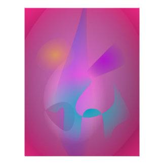 Dunstiges abstraktes rosa Lila Bedruckte Flyer