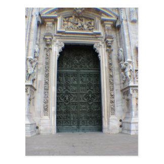Duomo-Eingang - Mailand, Italien Postkarte