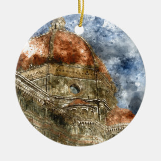 Duomo Santa Maria Del Fiore und Glockenturm Keramik Ornament