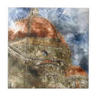 Duomo Santa Maria Del Fiore und Glockenturm Keramikfliese