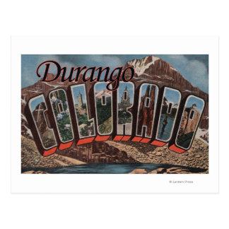 Durango, Colorado - große Buchstabe-Szenen Postkarte
