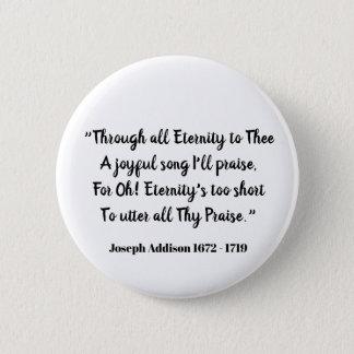 Durch alle Ewigkeit zu Thee (Liebeerklärung) Runder Button 5,7 Cm