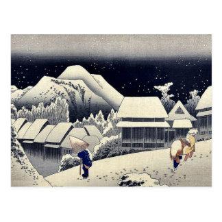durch Ando Hiroshige Ukiyo-e. Postkarte