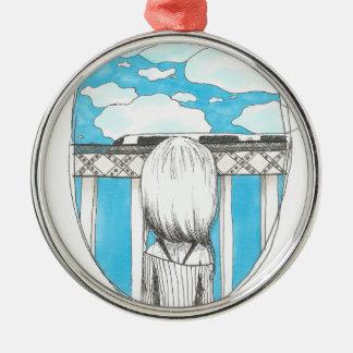 durch das Fenster Silbernes Ornament