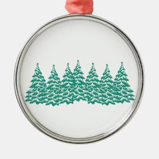Durch das Holz Silbernes Ornament