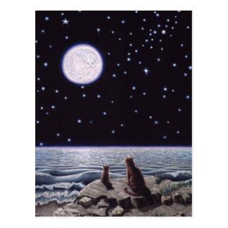 Durch das Licht des Katzen-Fisch-Mondes Postkarte