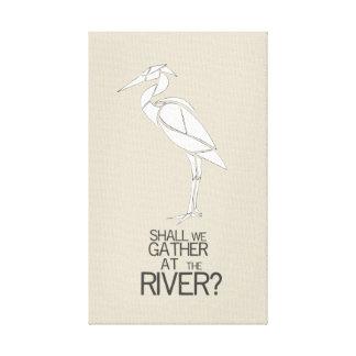 Durch den Fluss- Hymnen-Zitat Leinwanddruck