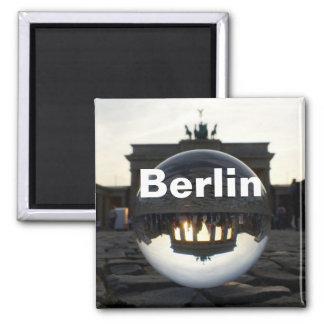 Durch den Kristallball Brandenburger Tor Quadratischer Magnet