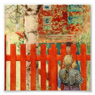 Durch den Zaun Photographischer Druck