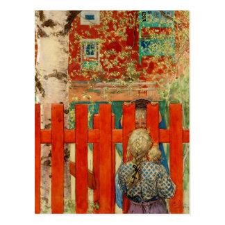 Durch den Zaun Postkarte