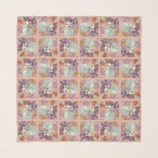 """Durch die Blumen 50"""" spähen x 50"""" quadratischer Schal"""