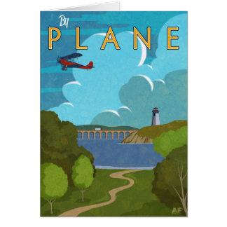 Durch Flugzeug Grußkarte