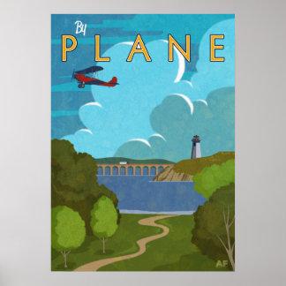 Durch Flugzeug Poster