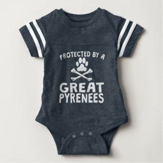 Durch große Pyrenäen geschützt Baby Strampler