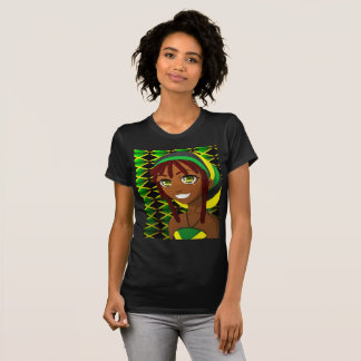 durch jamaikanischen T - Shirt Lächeln des Zimts
