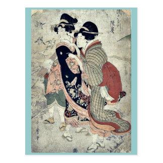 durch Kitagawa Utamaro Ukiyo-e. Postkarte