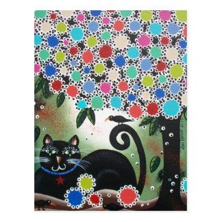Durch Lori Everett_Day der toten, schwarzen Katze, Postkarte
