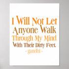 Durch mein Sinneszitat Gandhi Poster