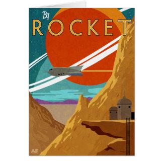 Durch Rocket Grußkarte