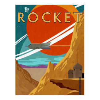 Durch Rocket Postkarte