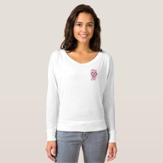 Durch sein Liebe-Brustkrebs-Taschen-T-Stück T-shirt
