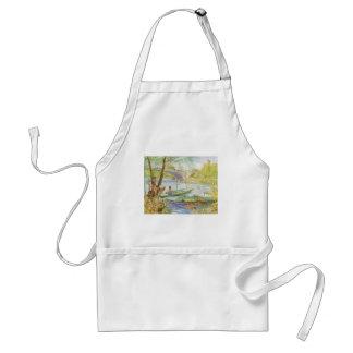 Durch Vincent van Gogh im Frühjahr fischen Schürze